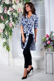 Блузка со шлейфом и короткими рукавами Angela Ricci со скидкой