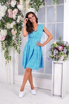 Ярко-голубое платье Angela Ricci